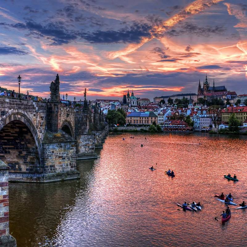 Win a trip for two to Prague.