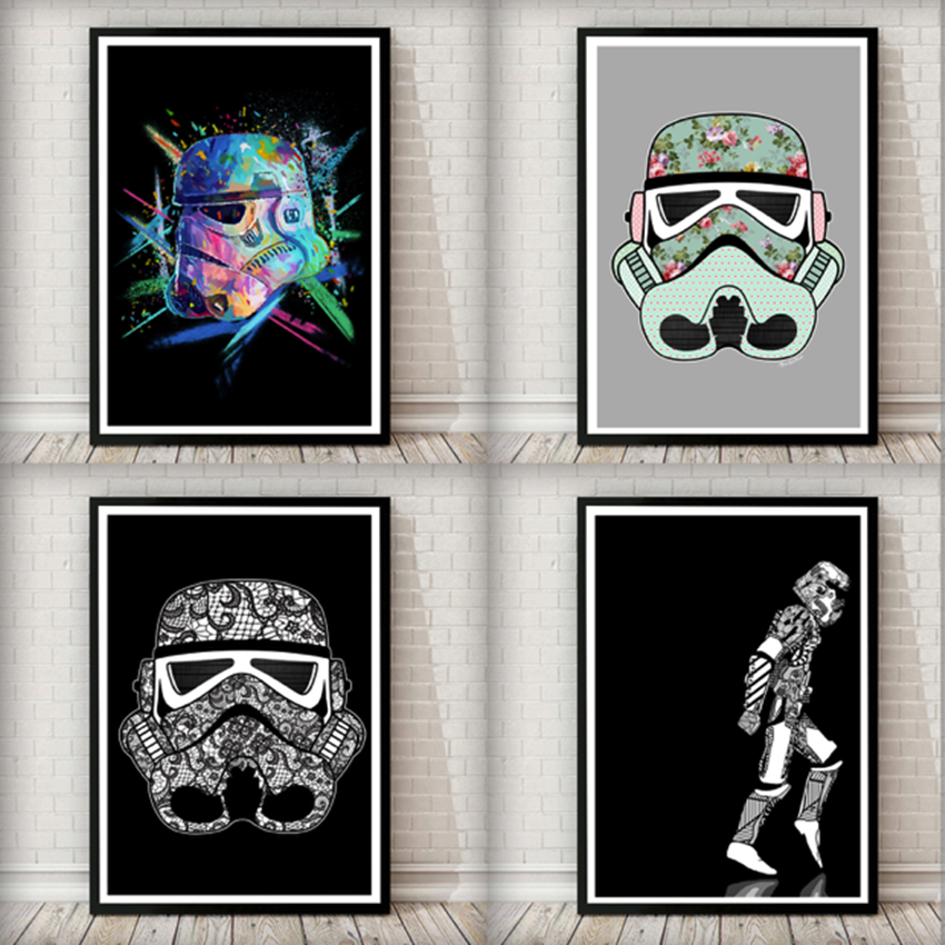 Win 3 Star Wars Framed Artworks