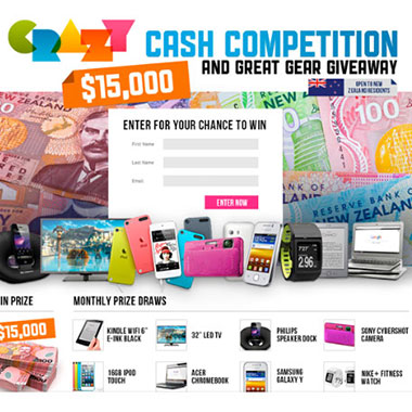 $15k Crazy Cash Competition & Gear Giveaway