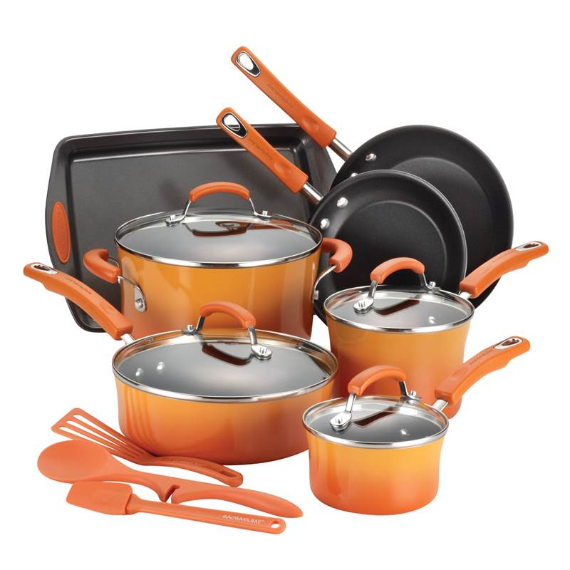 Win a Rachael Ray 14-Piece Nonstick Cookware Set