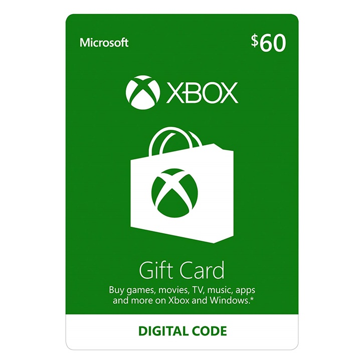 Win a $60 Giftcard from Xbox