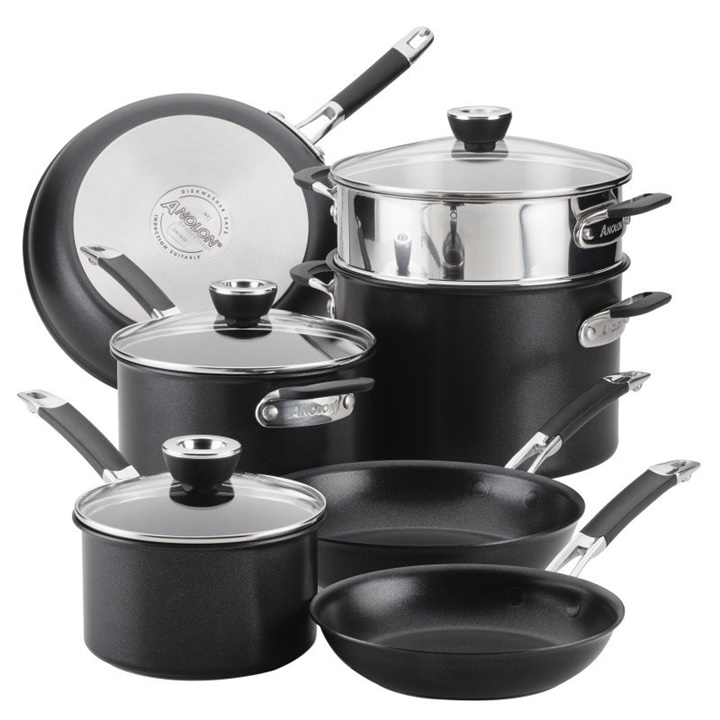 Win a Anolon Smart Stack Hard Anodized Nonstick Cookware Set