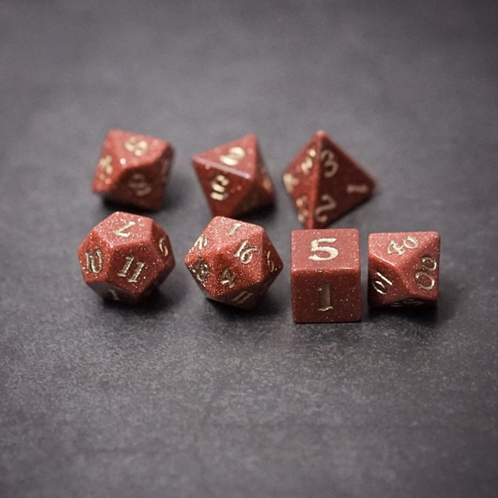 Win a Set of Gold Sandstone Gemstone Dice
