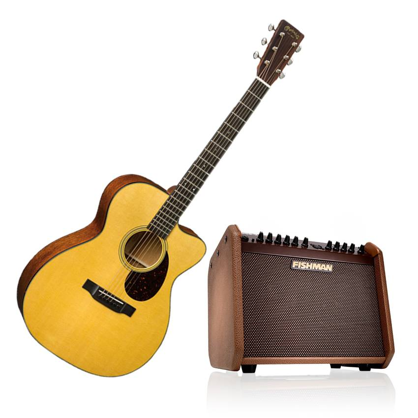 Win Martin OMC-18E & Fishman Loudbox Mini Charge