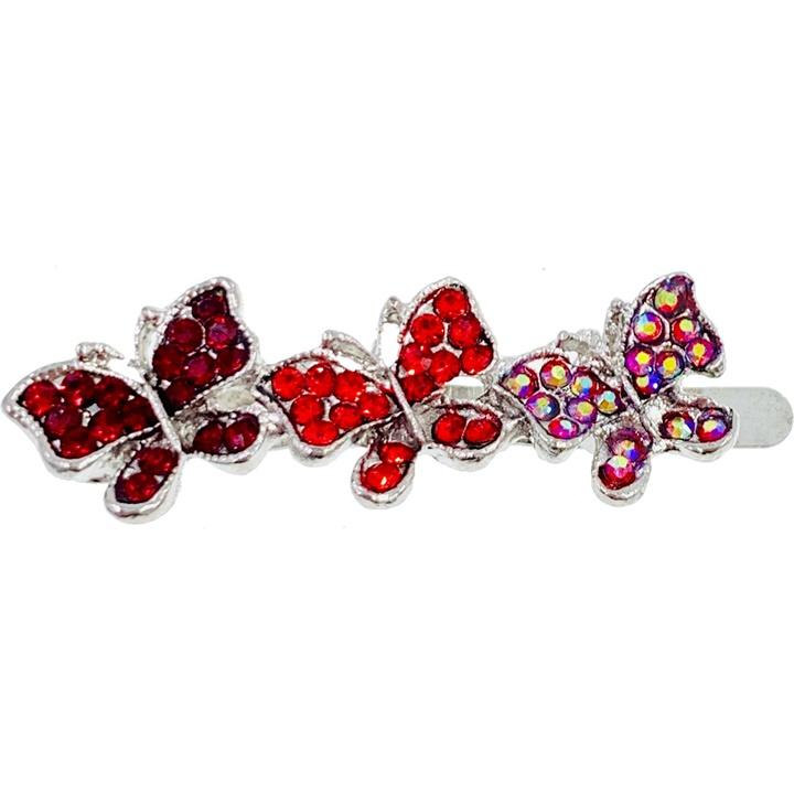 Win a 1 of 7 Crystal Butterfly Hair Clips