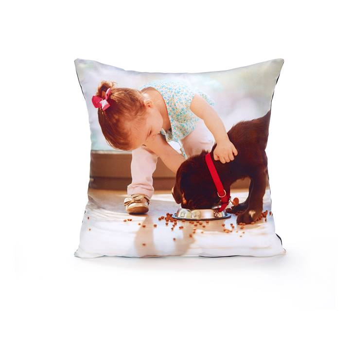 Win a customized pillow printed with the photo of your pet