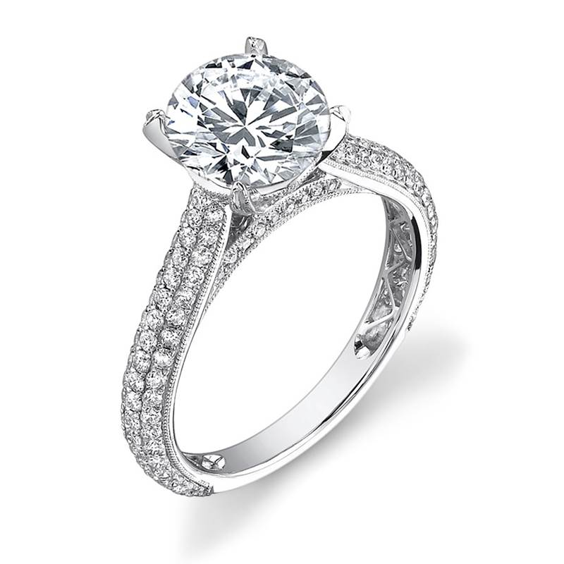 Win a Pave Diamond Engagement Ring in 14kt White Gold