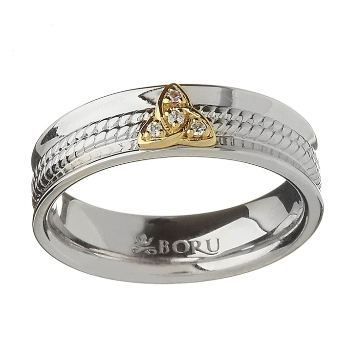 Win a 10k Gold & Sterling Silver Trinity Knot Ring
