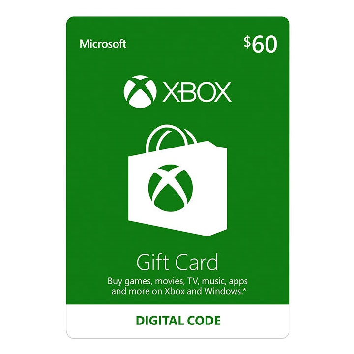 Win a $60 Dollar Xbox Digital Gift Card