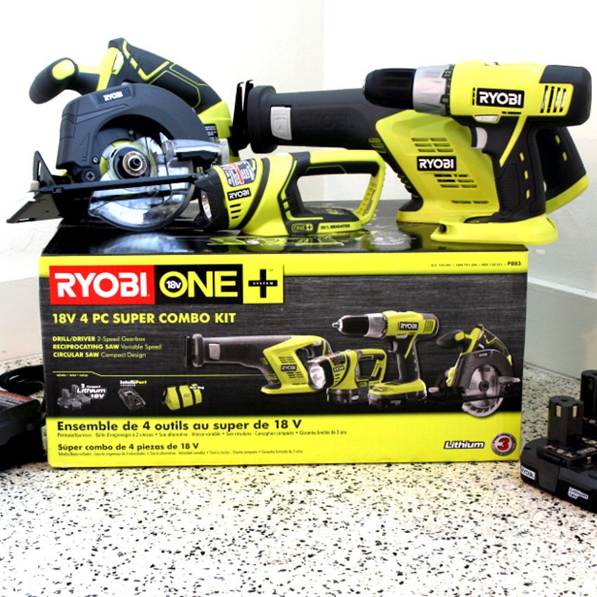 Win the Ultimate Ryobi ONE 18V 4 Piece Super Combo Kit