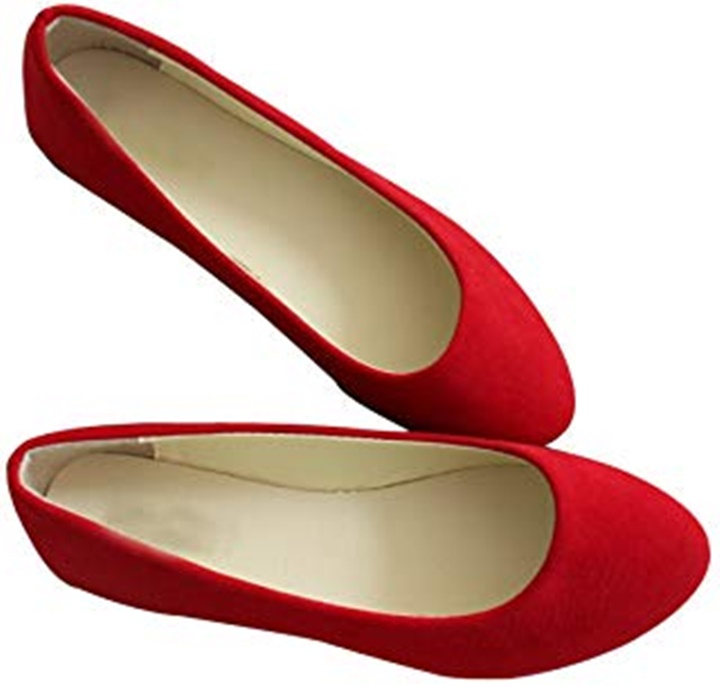 Win a Pairs of Radical Yes Red Flat Shoes
