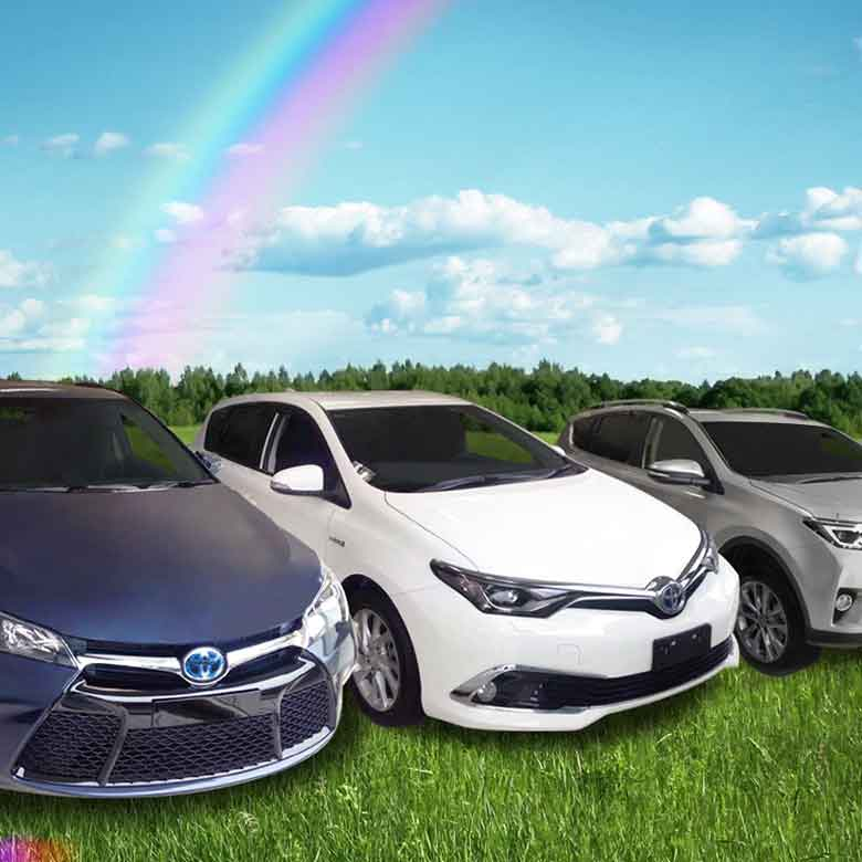 A Toyota is waiting for you at the end of the rainbow!