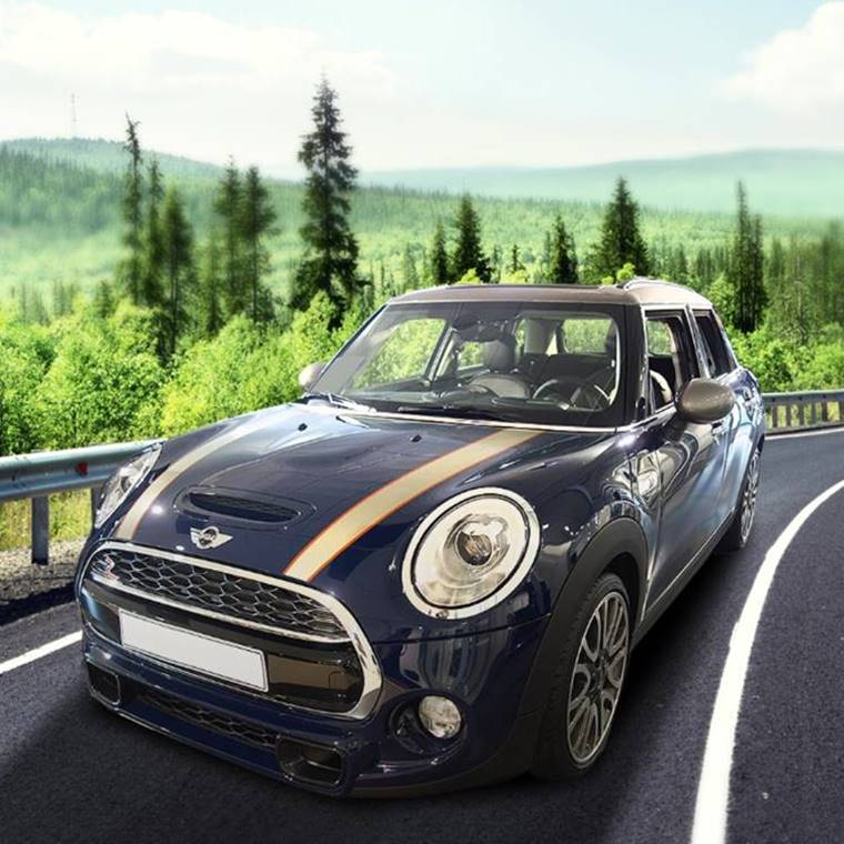 Celebrate in style with this Modern Mini Cooper