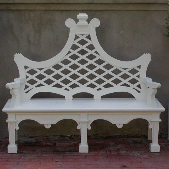 Win a Wales Fancy Lutyens Garden Bench in White